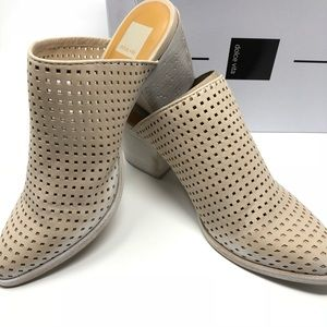 Dolce Vita Kelso Cream Perforated Mules Size 9.5